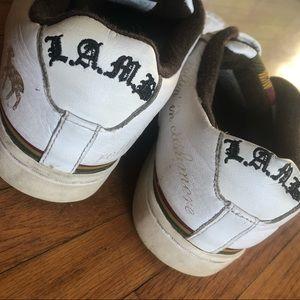 L.A.M.B. Royal Elastics White Sneakers